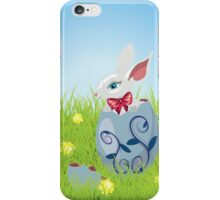 Easter Bunny and Grass Field iPhone Case/Skin