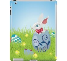 Easter Bunny and Grass Field iPad Case/Skin