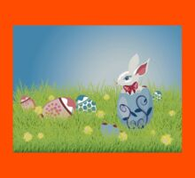 Easter Bunny and Grass Field Kids Clothes