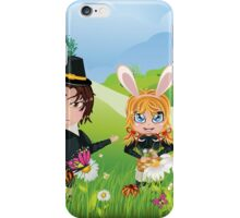 Easter Boy and Girl 3 iPhone Case/Skin