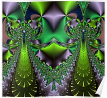 f6 green & purple fractal Poster