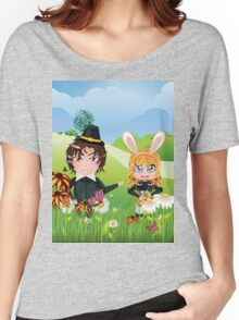 Easter Boy and Girl 3 Women's Relaxed Fit T-Shirt