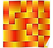 abstract square background Poster