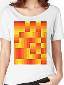 abstract square background Women's Relaxed Fit T-Shirt