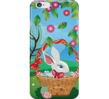 Easter Bunny and Grass Field 2 iPhone Case/Skin
