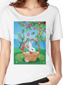 Easter Bunny and Grass Field 2 Women's Relaxed Fit T-Shirt