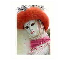 Venice - Carnival  Mask Series 03 Art Print