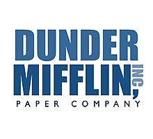 Dunder Mifflin The Office Logo Photographic Print