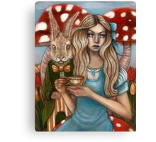 Alice and the March Hare Canvas Print