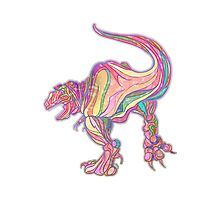 Rainbow Rex Photographic Print