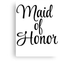 Maid of Honor Graphic Canvas Print