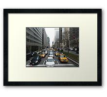 Busy New York Street II Framed Print
