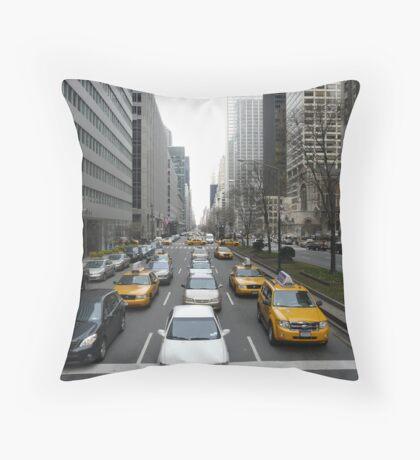 Busy New York Street II Throw Pillow