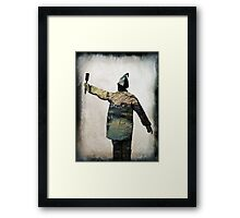 Painting white walls Framed Print