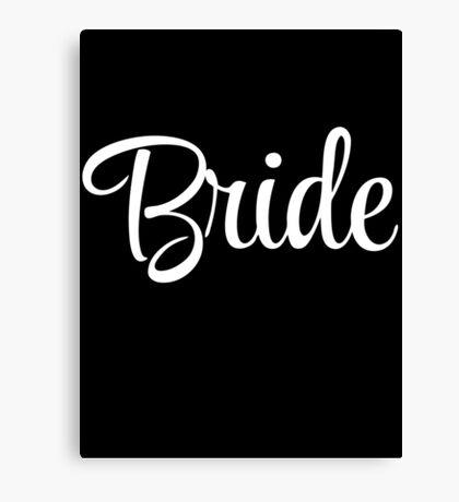 Bride Graphic Slogan Canvas Print