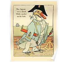 Fairy ship 18xx Walter Crane 16 - The Captain Was a Duck, With a Jacket on his Back Poster