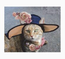 PRINCESS TATUS / ELEGANT CAT WITH DIVA HAT AND PINK ROSES  Kids Clothes