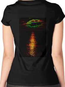 The Sunset Collection-Irish Design Women's Fitted Scoop T-Shirt
