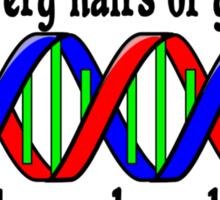 Mat 10:30 DNA  Sticker