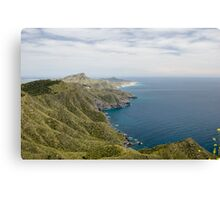 Calblanque Natural Park taken from Bateria Cenizas, Costa Calida, Spain Canvas Print
