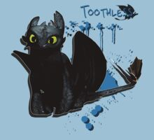 How to train your dragon - Toothless Splatter Kids Clothes