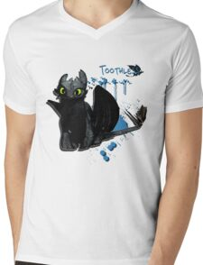 How to train your dragon - Toothless Splatter Mens V-Neck T-Shirt