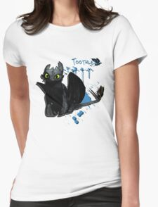 How to train your dragon - Toothless Splatter Womens Fitted T-Shirt