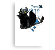 How to train your dragon - Toothless Splatter Canvas Print