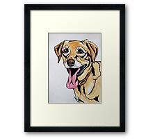 #1: DICE the Yellow Lab: Messages from the Dogs Oracle Deck Framed Print