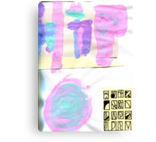 pastel thoughts  Canvas Print