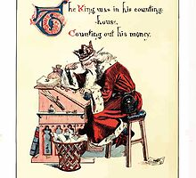 The Song Of Sixpence Pocket Book 1909 Walter Crane 21 - Tje King was in his Counting House Counting Out his Money by wetdryvac