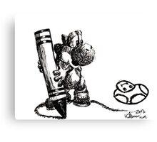 Yoshi Ink Doodle Canvas Print