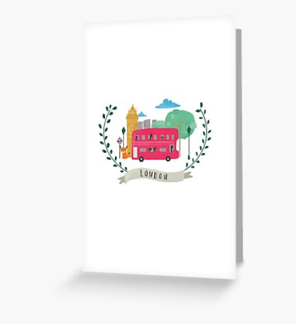 London Wreath Greeting Card