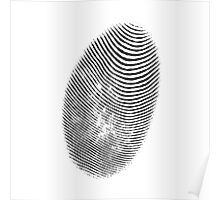 finger print texture Poster