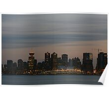 Vancouver downtown in the evening Poster