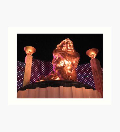 Las Vegas MGM Grand Art Print