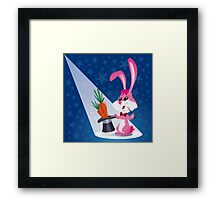 Magician Rabbit Framed Print