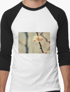 White Tree Blossoms Men's Baseball ¾ T-Shirt