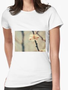 White Tree Blossoms Womens Fitted T-Shirt