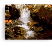 Mini Waterfall - A Brook at Crabtree Falls  Canvas Print