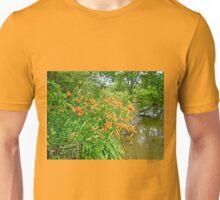 Daylilies By The Reservoir - Hemerocallis Unisex T-Shirt