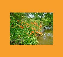 Daylilies By The Reservoir - Hemerocallis Unisex T-Shirt