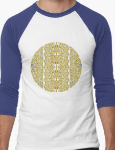 psychedelic Swirls Men's Baseball ¾ T-Shirt