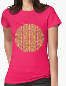 psychedelic Swirls Womens Fitted T-Shirt