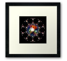'SphereStar (rainbow)' Framed Print