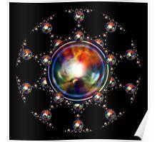'SphereStar (rainbow)' Poster