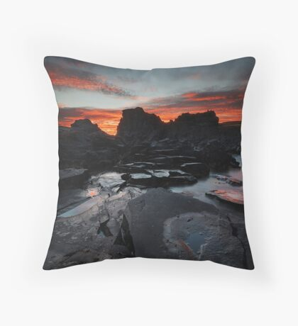 Kings Rocks at Sunset Throw Pillow