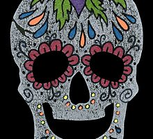 Day of the Dead Colorful Sugar Skull by ElfRenee