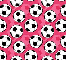 Girly Soccer Ball Pattern by cikedo