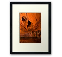 Neon Canyon Framed Print